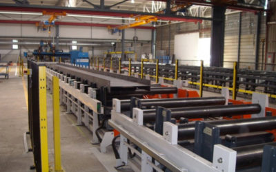 Steelbeam assembly and welding line
